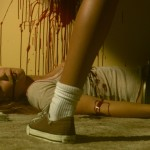 Sandy Spits Blood