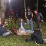 woods on set