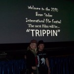Devi & Spider at the UK Premiere of Trippin'