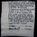 original release on napkin